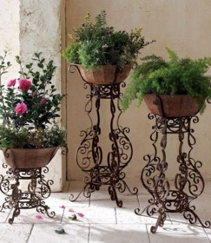 WROUGHT IRON PLANT STANDS GASTONIA NC